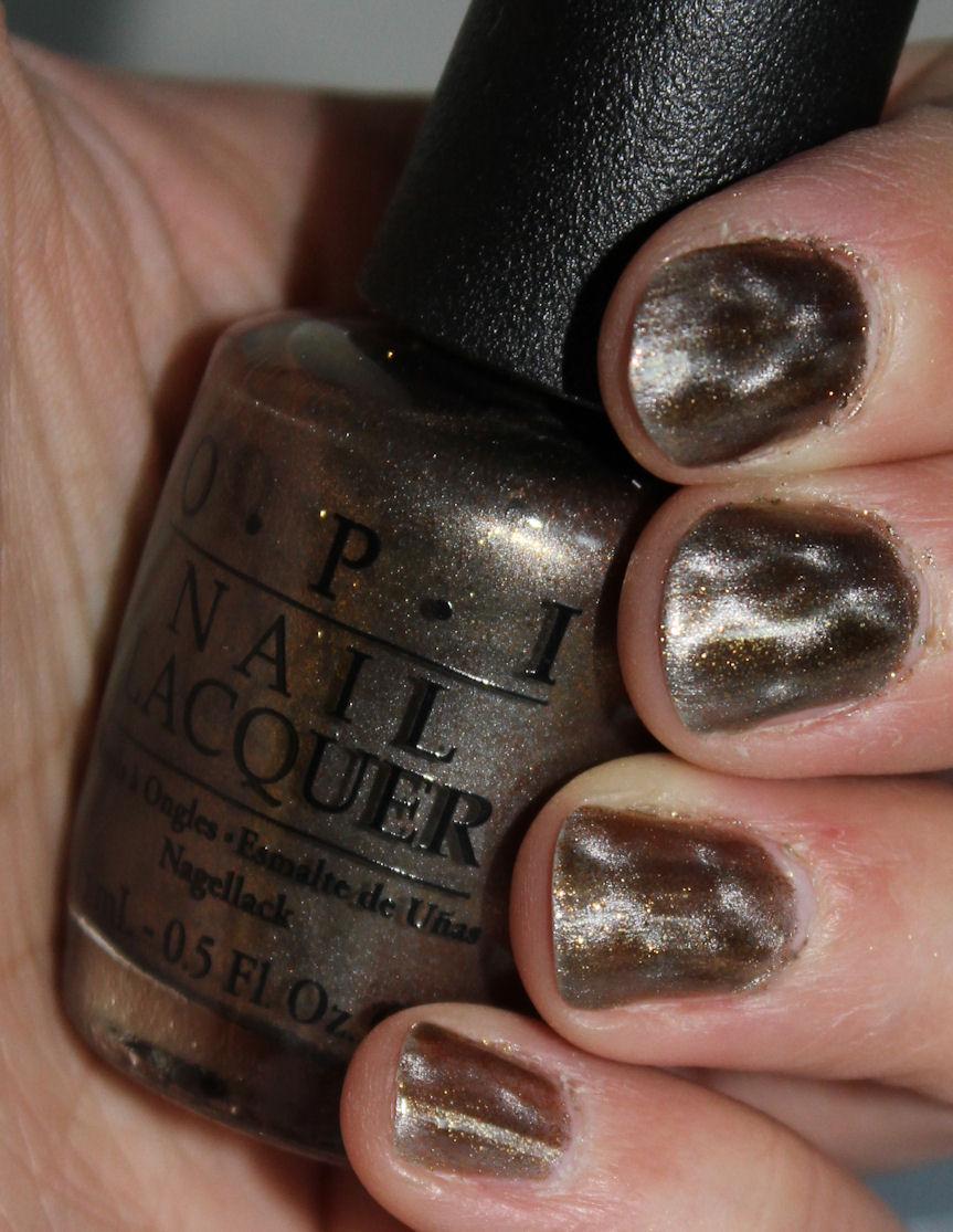 Painted: OPI Bond... James Bond Magnetized nail polish swatch
