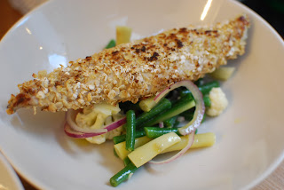 Oat Crusted Mackerel with Piccalilli Salad