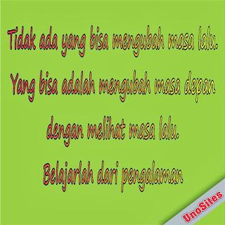 Kata Kata Mutiara Bijak Penuh Motivasi Terbaru 2013 - tidak ada yang bisa mengubah masa lalu