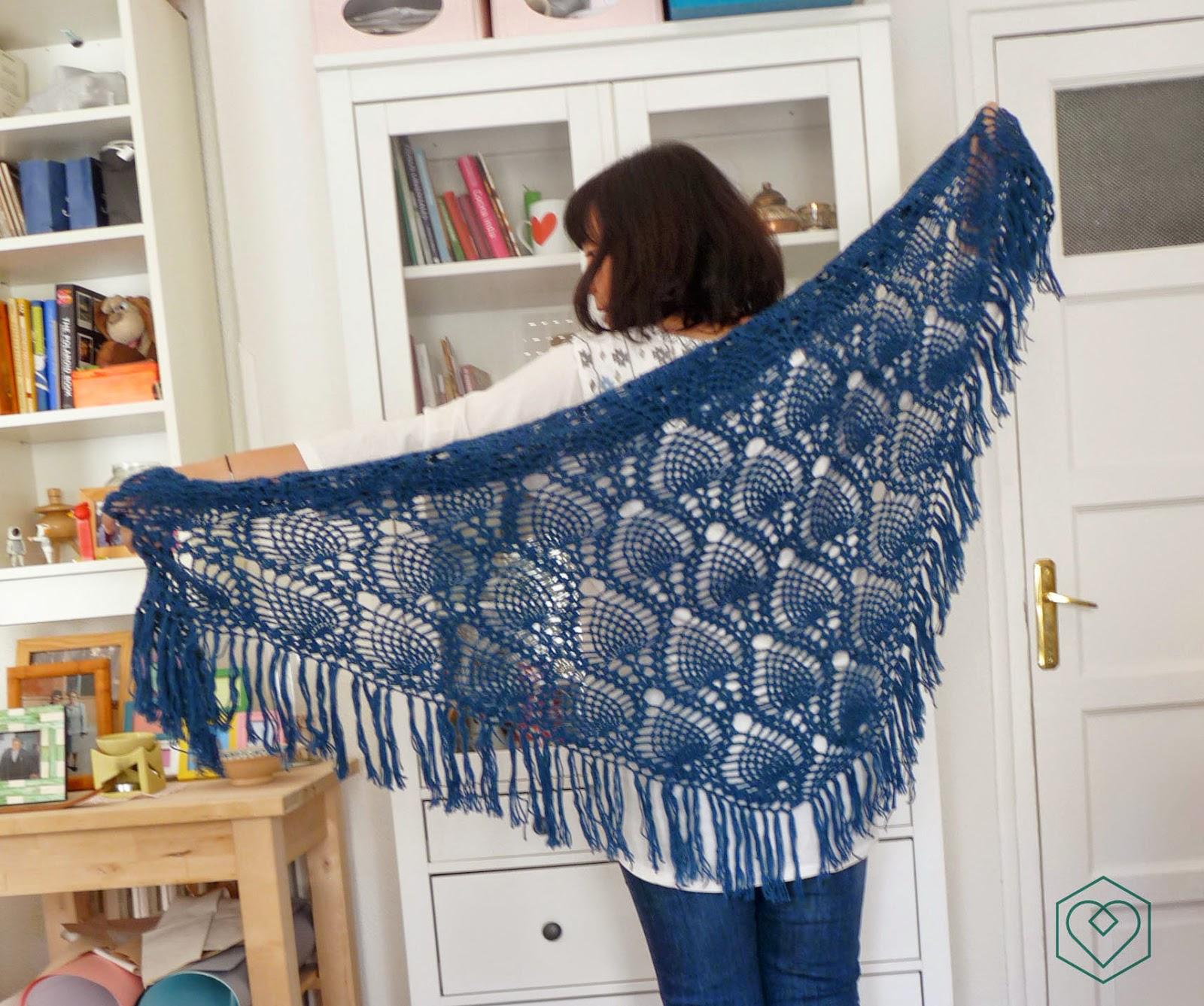 Louis et Moi (cosen y hacen crochet): Chal de piñas