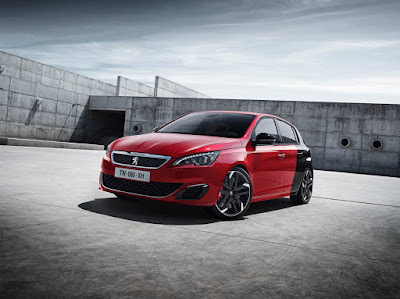 New Peugeot 308 GTi in not so fetching 2 tone
