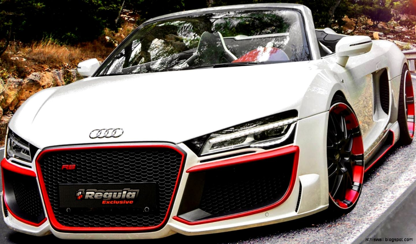 Regula Tuning Audi R8 V10 Spyder 2014 aro 20 52 525 cv   YouTube