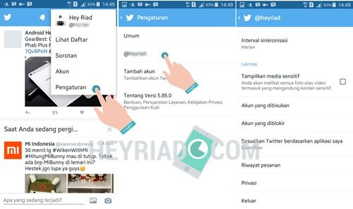 Cara Log Out Twitter Di Android