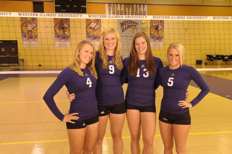 Western Illinois Volleyball jpg College Women In Volleyball Shorts