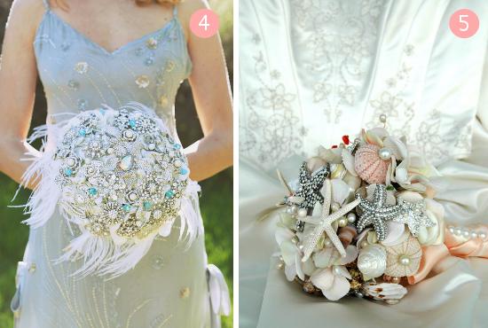 bouquet da sposa, vintage brooch bouquets, bouquet alternativi