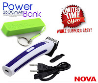 Buy Nova Trimmer &  2600 Mah Power bank at Rs.344 Via  Shopclues:buytoearn