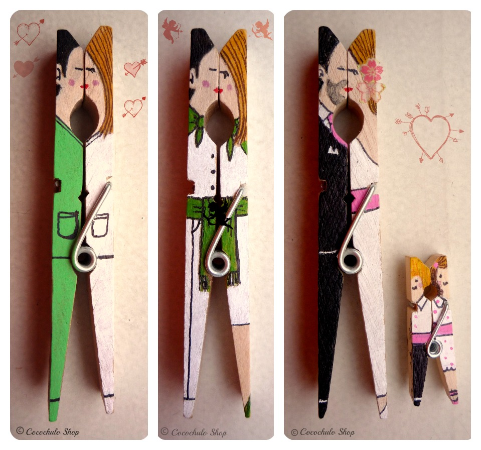 Regalos manuales de amor recopilaci n pinzas decoradas diy for Porta ganchos de ropa