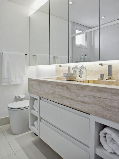 Armario Baño Pequeno:Iluminação indireta com fita de LED Aplicável a todos os ambientes