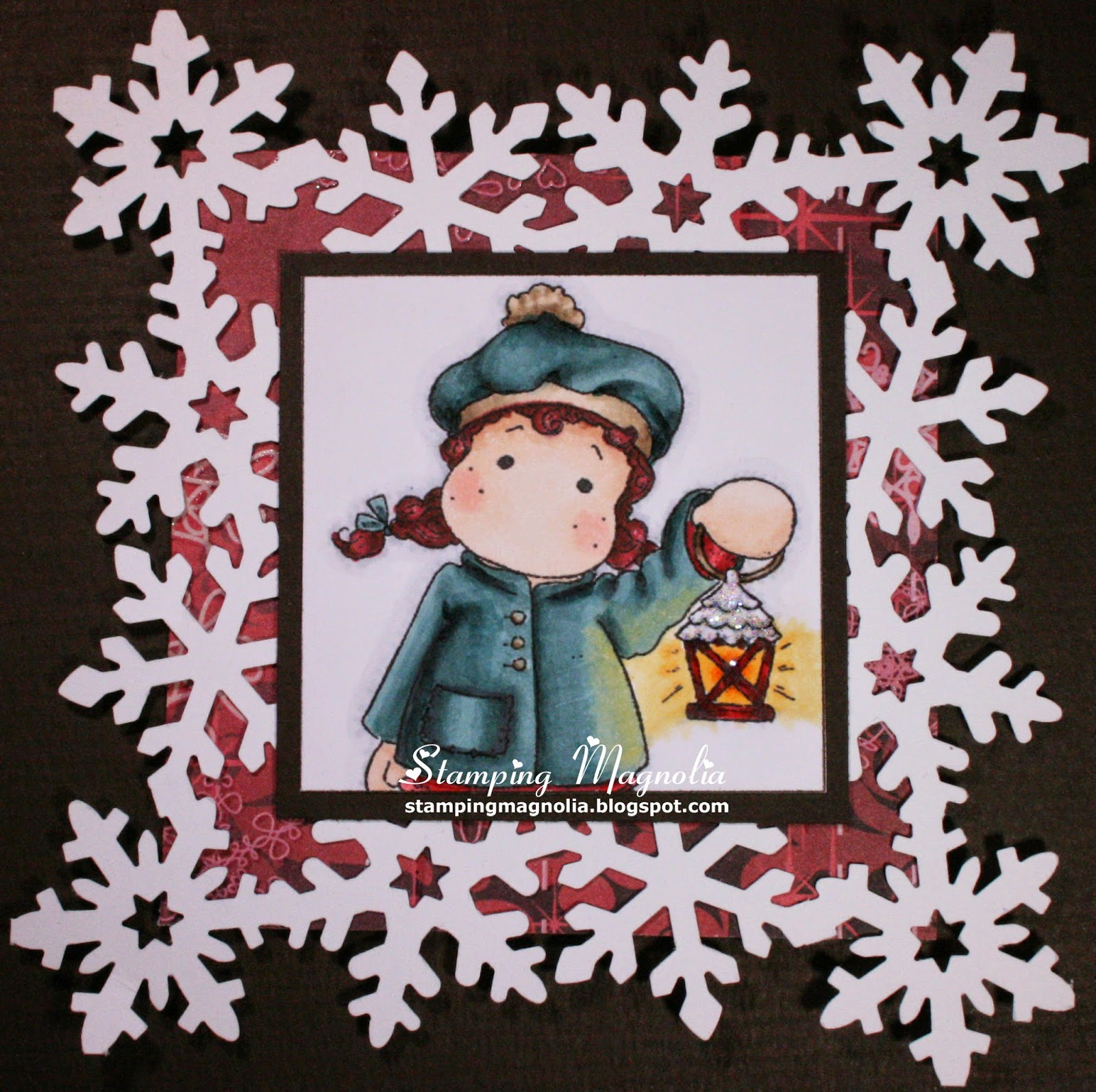 Coloring Magnolia Stamp Sweet Christmas Dreams Collection - Midwinter Tilda