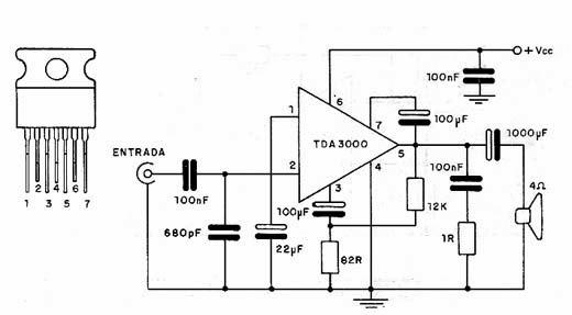 Circuito Amplificador : Circuitos amplificadores circuito amplificador w con