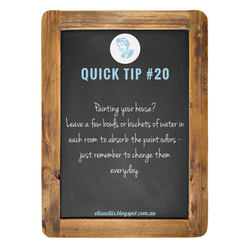 Quick Tip #20 from the Quick Tips Series by Eliza Ellis