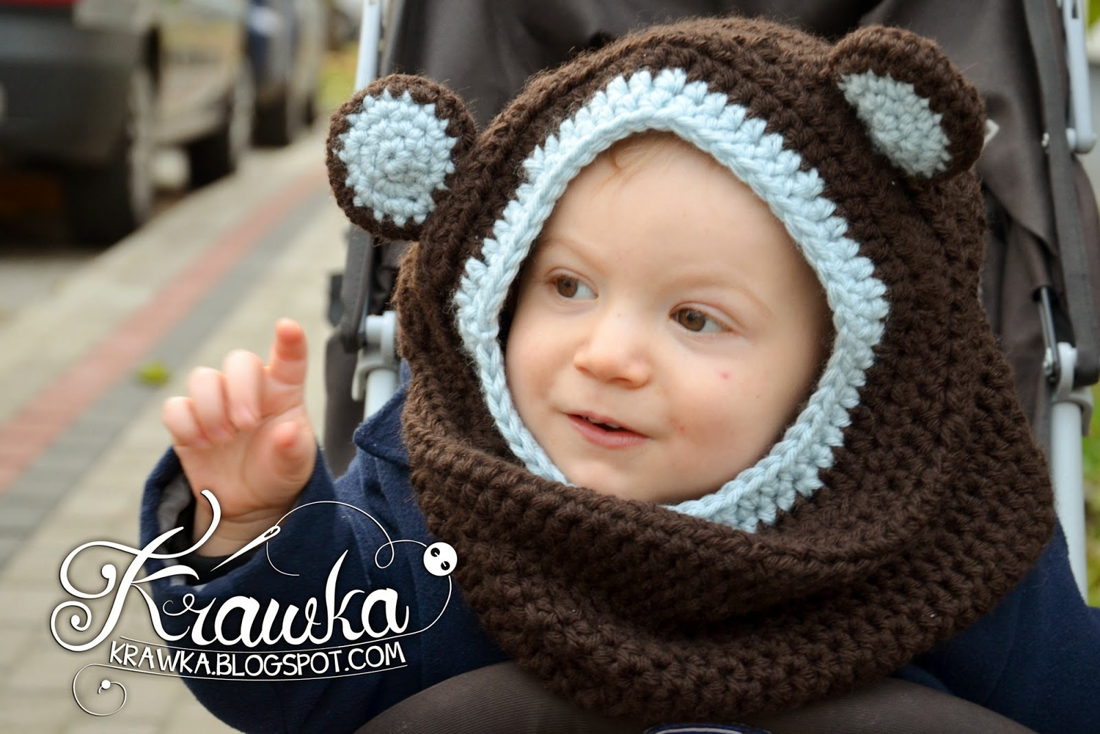 Free crochet pattern hooded cowl with ears manet for krawka little bear hooded cowl pattern free crochet bankloansurffo Gallery