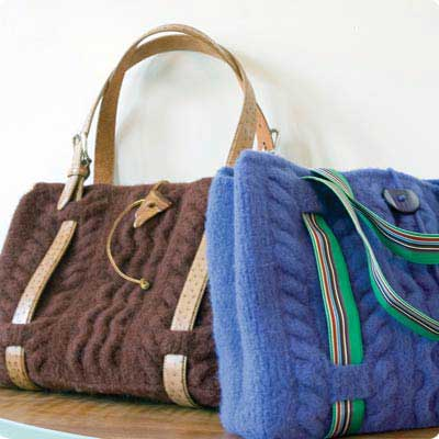 Knitted Handbags Patterns : Bag Knitting Patterns Bag Organizer Images