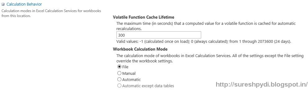 How to disable automatic calculation in excel 2013