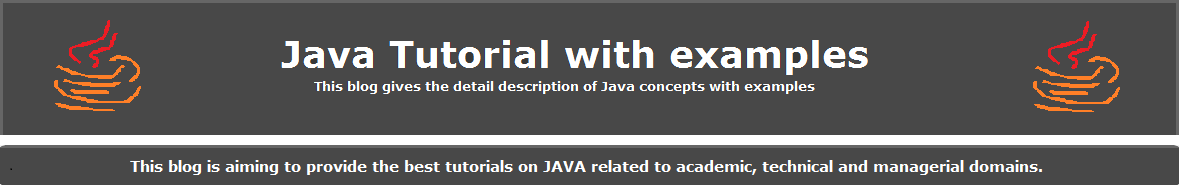 Java Tutorial With Examples