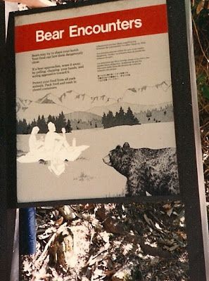 Bear-encounters-sign-Yosemite-National-Park