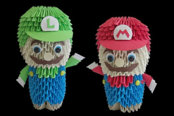 Origami Mario Origami Instructions Art And Craft Ideas