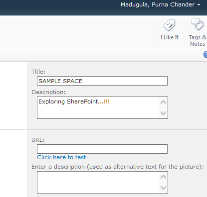 Purna's MORE SHAREPOINTS : Displaying Site Title, Site Description ...