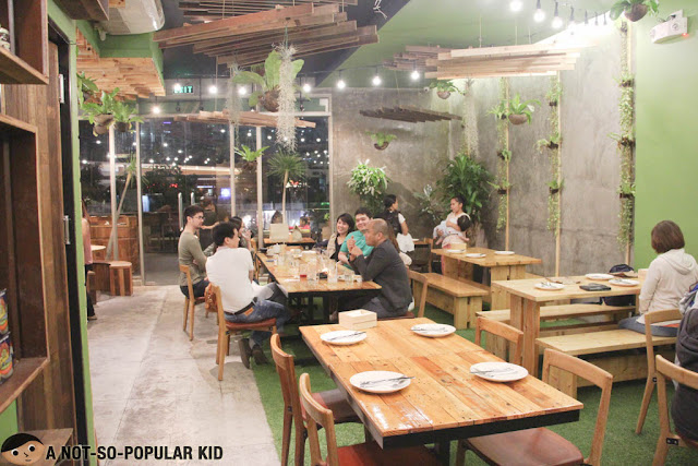 Neat and Garden-like Interior of Earth Kitchen in BGC