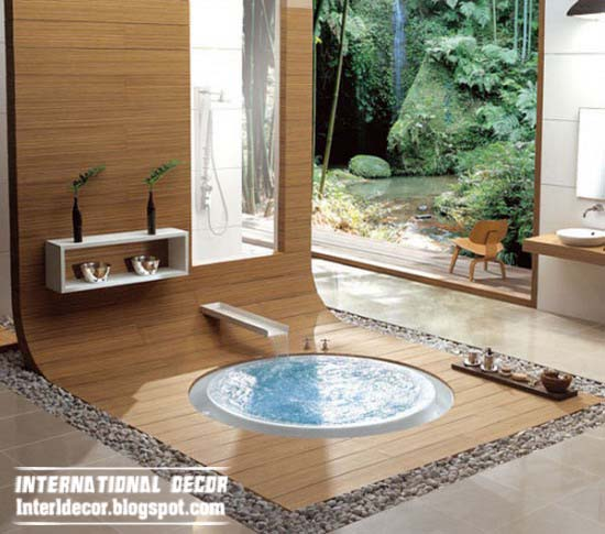 Specific Details Of The Interior In The Japanese Style Bathroom: