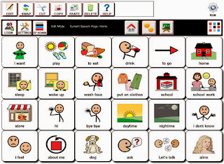 iPad app for impairments with speech