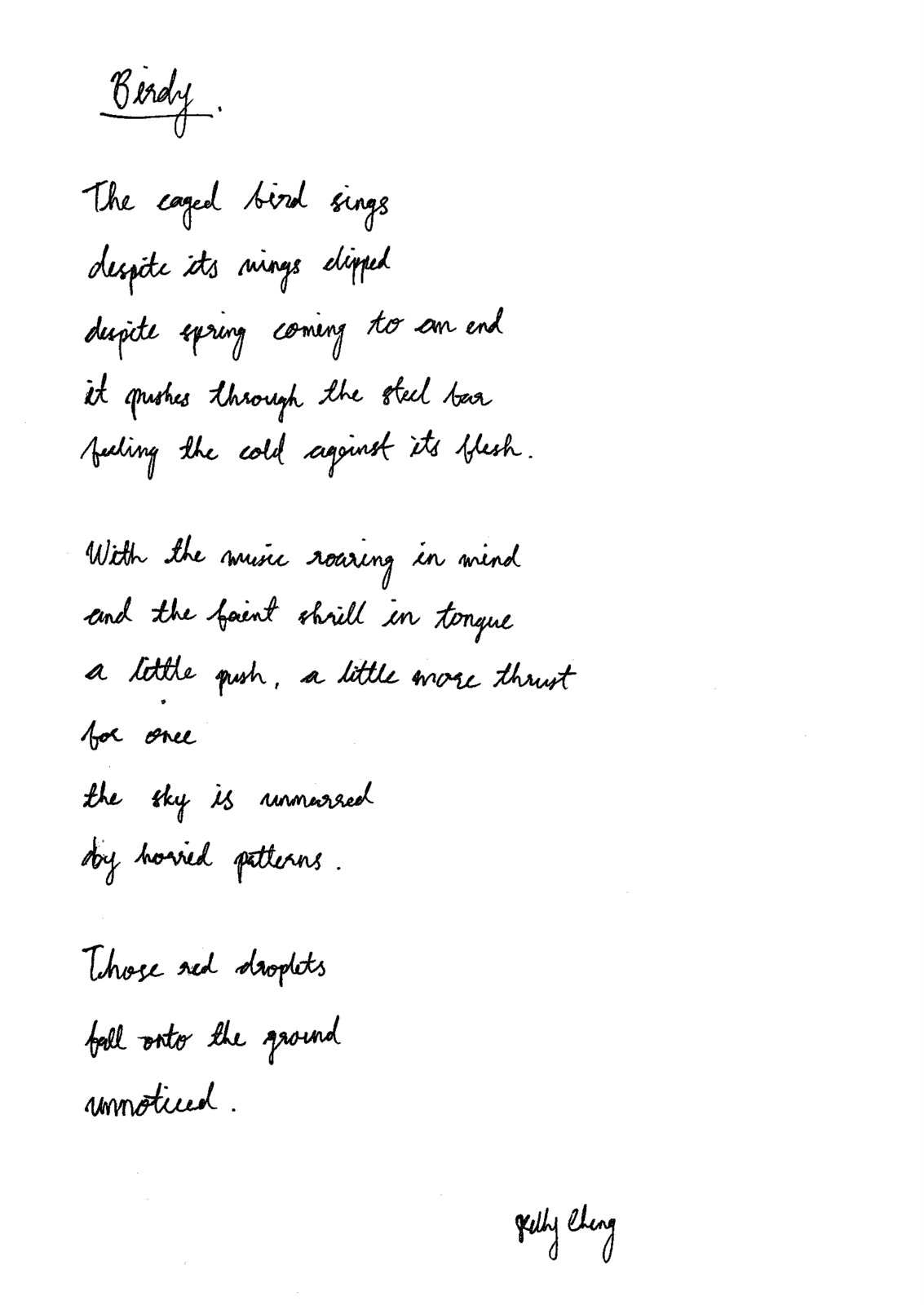 This is A Blog: Birdy - An Original Poem