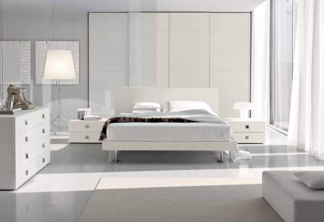 White Bedroom Design Modern World Furnishing Designer