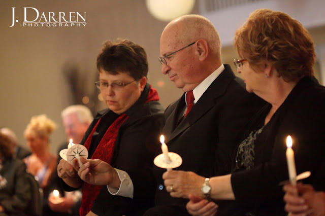 photo of wedding candle lighting ceremony at Twelve West Main