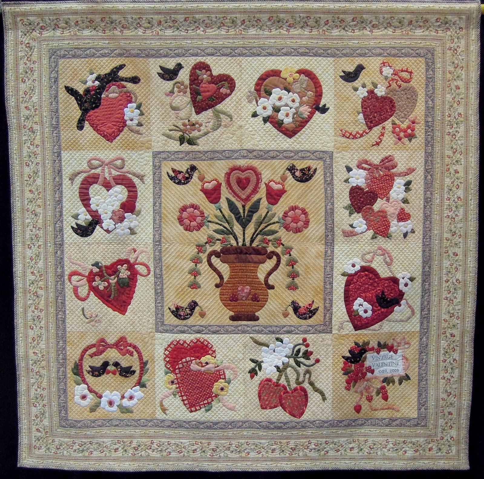 Quilt Inspiration Vintage And Modern Valentines Part 1