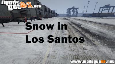 V - Mod Neve em Los Santos para GTA V PC