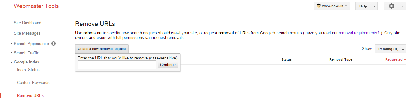 remove unwanted website or blog links from Google