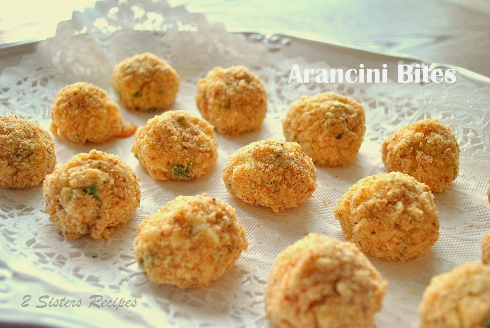 ... Sisters Recipes... by Anna and Liz: Arancini Bites with Fontina Cheese