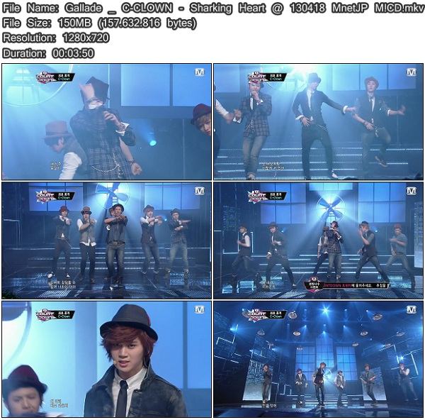 New Japanese Sharking http://shinygallade.blogspot.com/2013/04/perf-c-clown-sharking-heart-130418-mnet.html