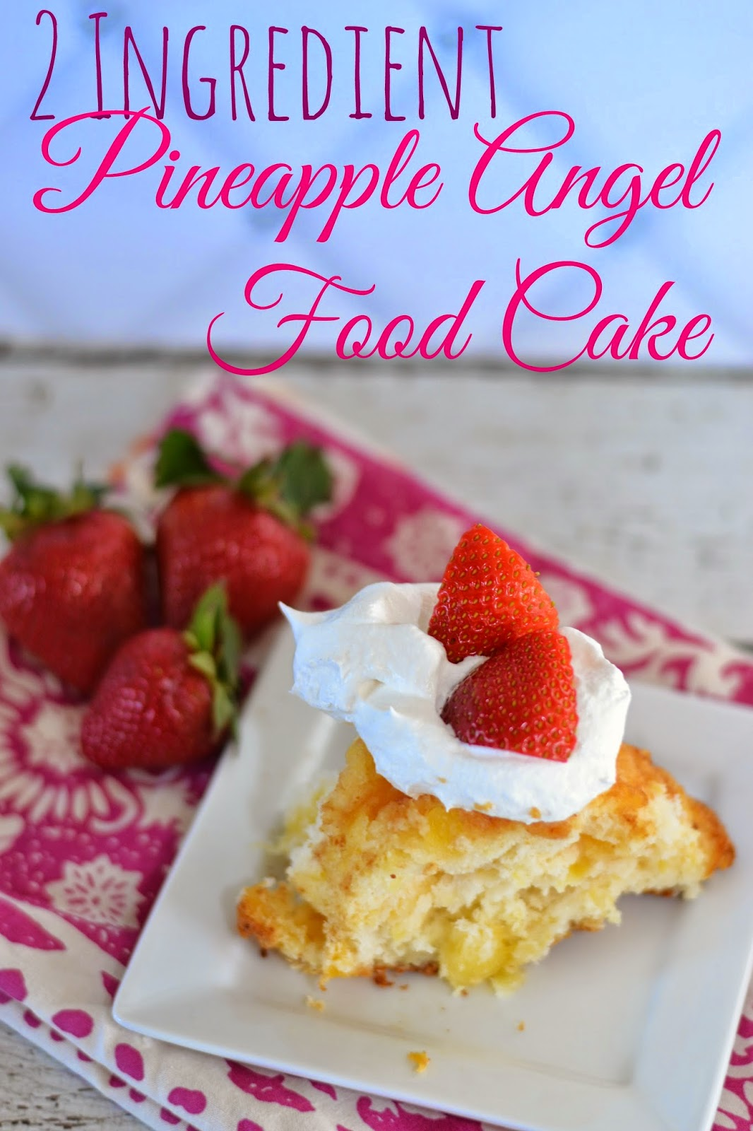 Diy Angel Food Cake Mix 2 Ingredient Angel Food Cake
