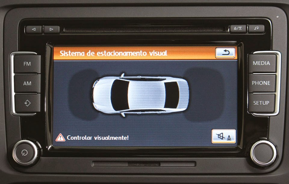 Display dos sensores de estacionamento do jetta volks
