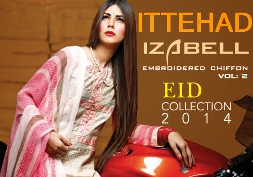 Ittehad Eid Magazine 2014 IZABELL EID Dresses