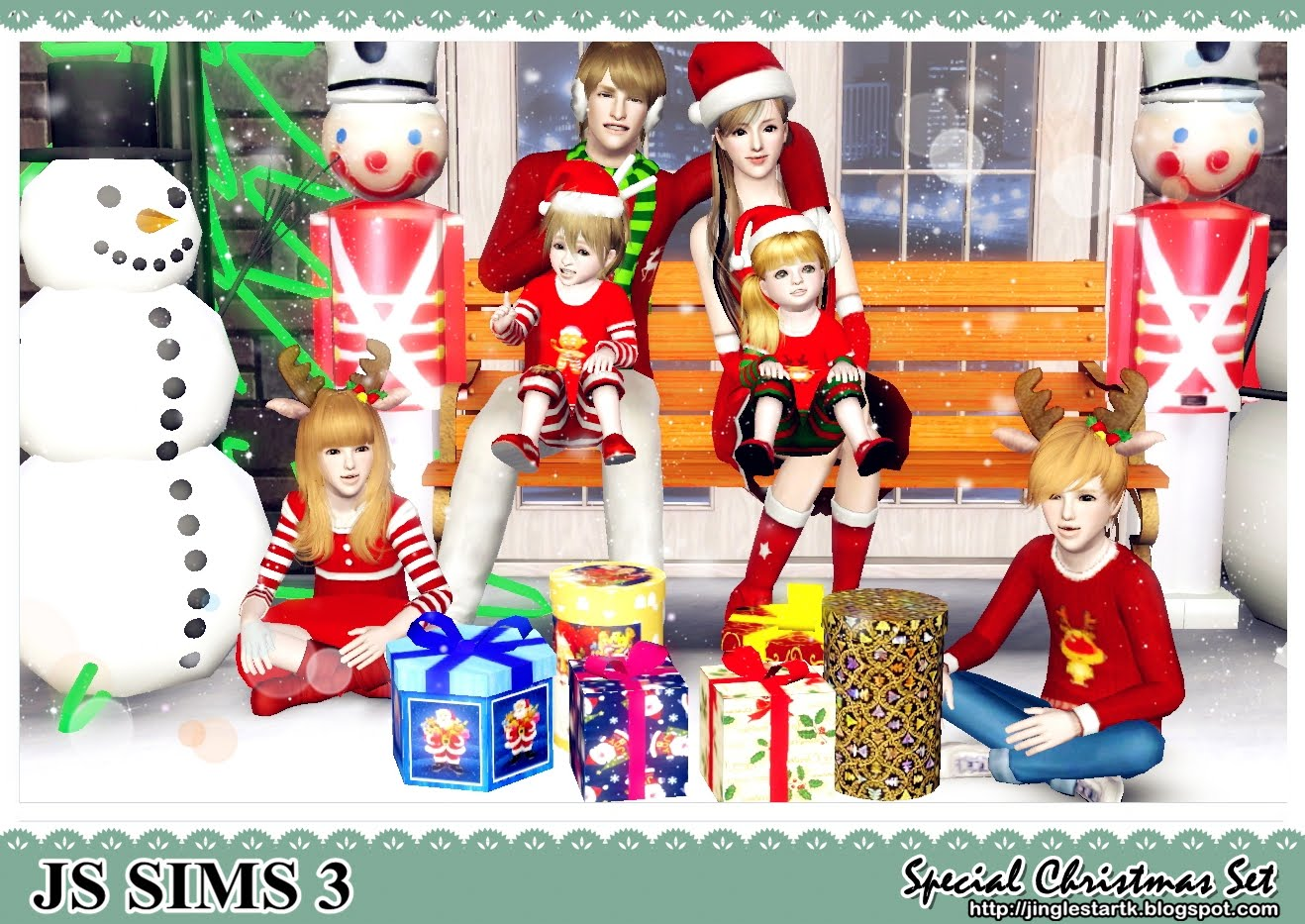 Js Sims 3 Merry Christmas Special Christmas Set For You