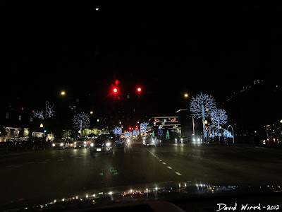 downtown gatlinburg at night, tennessee, new years