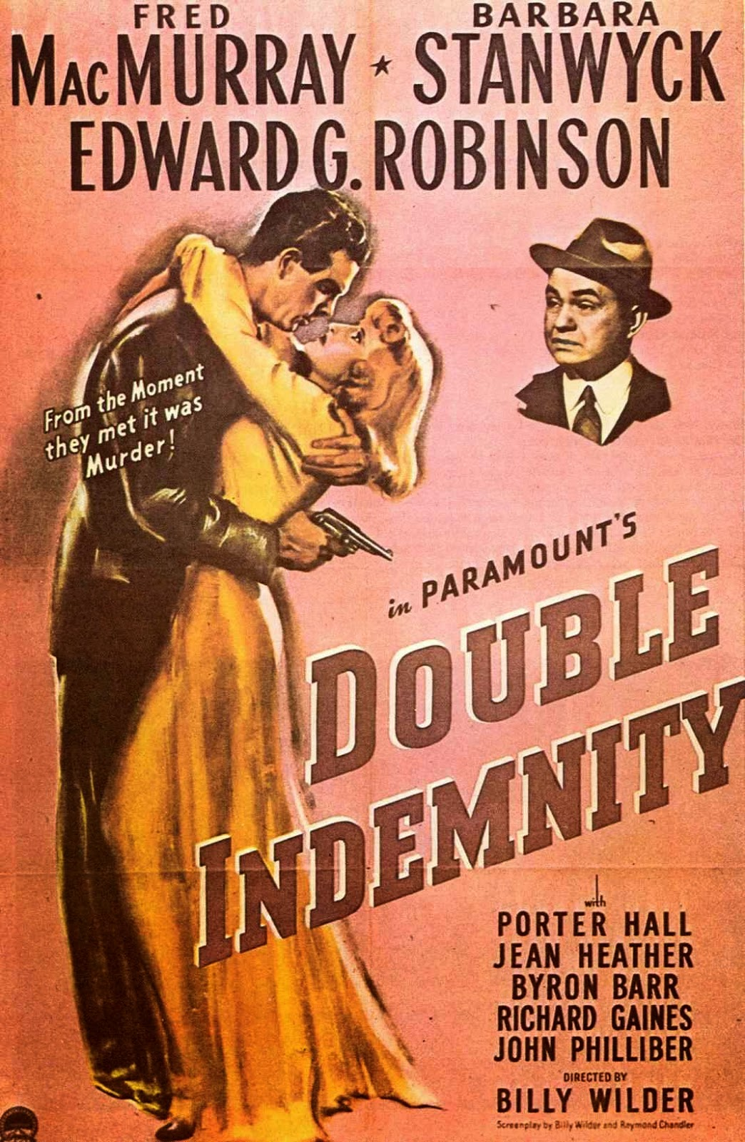 the theme of relationship in billy wilders film double indemnity Notes on film: double indemnity double indemnity director billy wilder double indemnity was not wilder's first film as director but it was the one that.