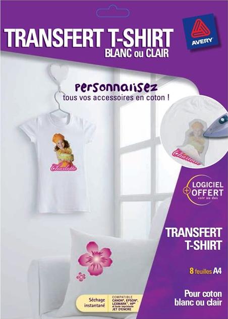 http://www.avery.fr/avery/fr_fr/Produits/Produits-pour-la-maison/Transferts-T_shirt/Transfert-tee_shirt-pour-textiles-en-coton-blancs-ou-clairs_C9405_8.htm?N=4294967261&Ns=&refchannel=7562b00ac6830210VgnVCM1000002118140aRCRD