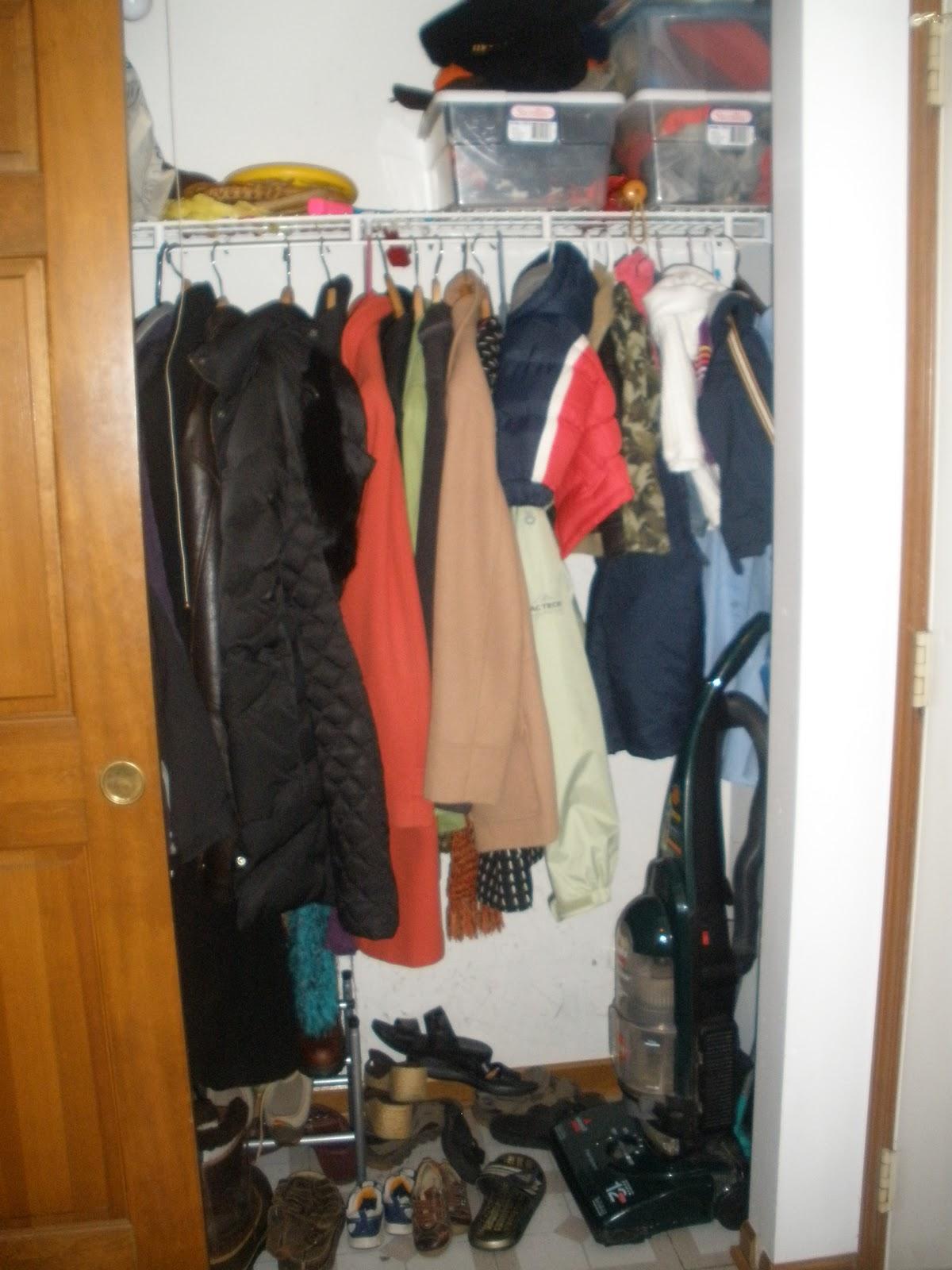 Coat Closet Organizing