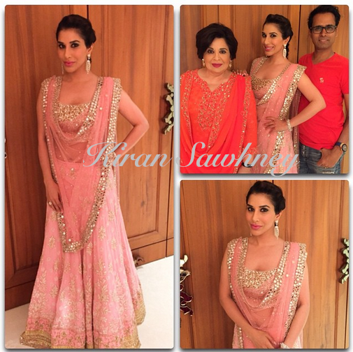 Sophie choudry at  Hinduja wedding