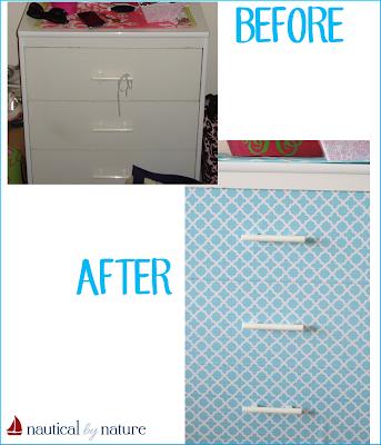 DIY Contact Paper Dresser Makeover