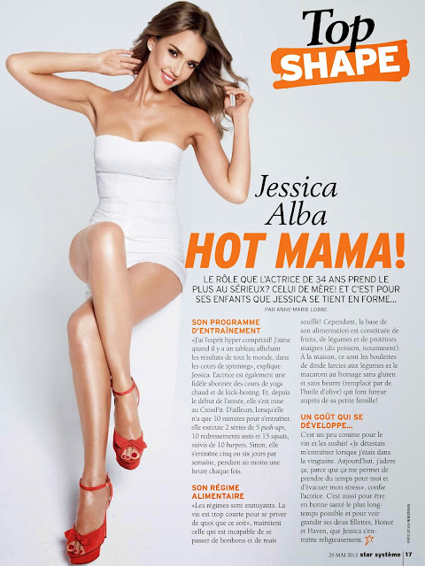Model, Actress @ Jessica Alba - Star Système France, May 2015