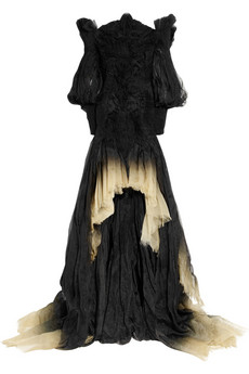 Dégradé silk-organza off-the-shoulder gown by Alexander McQueen