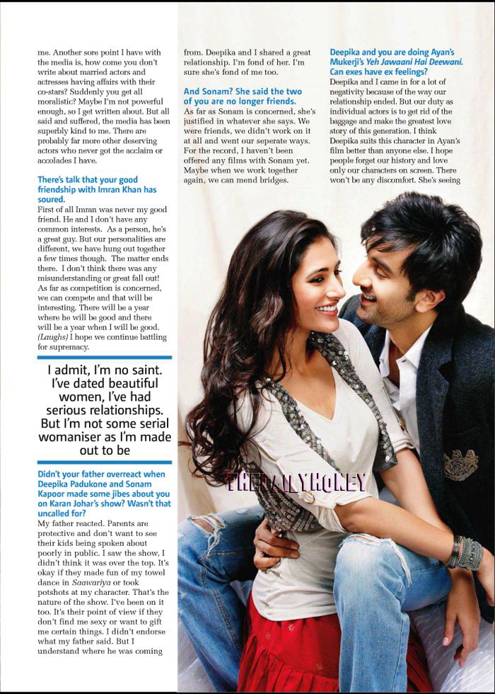 Ranbir Kapoor with Nargis Fakhri in Rockstar