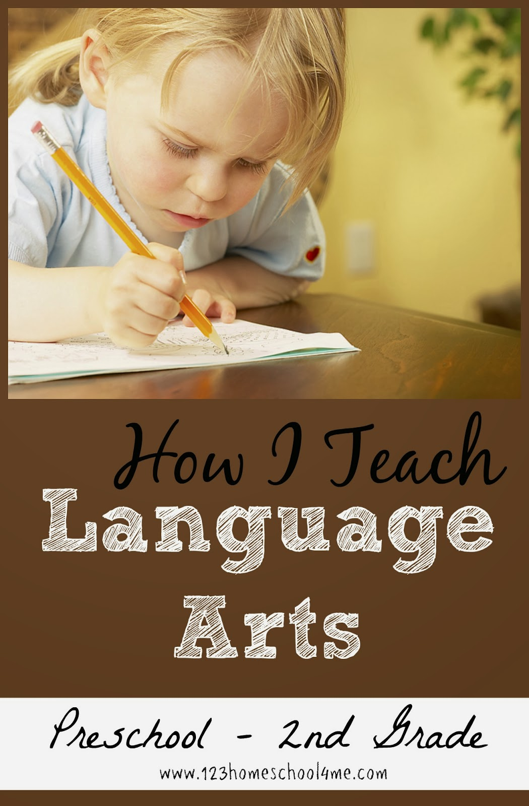 How I teach Homeschool Language Arts to Preschool, Kindergarten, 1st Grade, and 2nd Grade