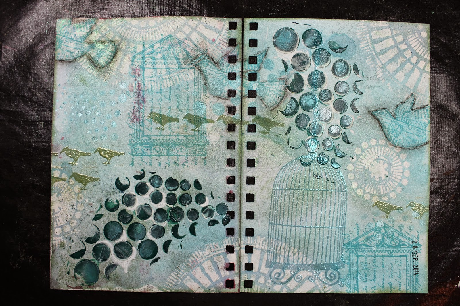 Mijn Messy Mixed Media projects blog.