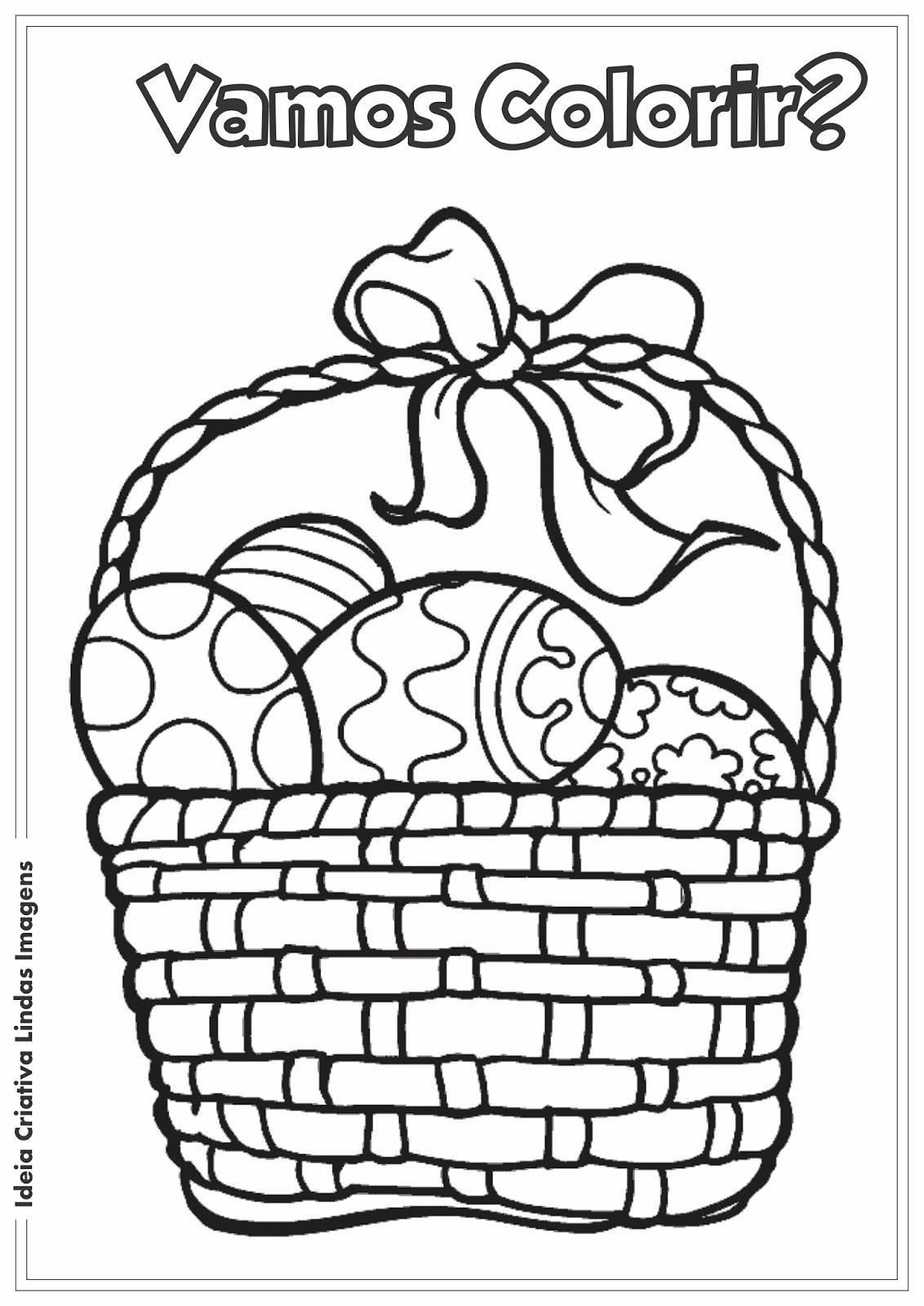 Desenho de Páscoa Comercial para colorir
