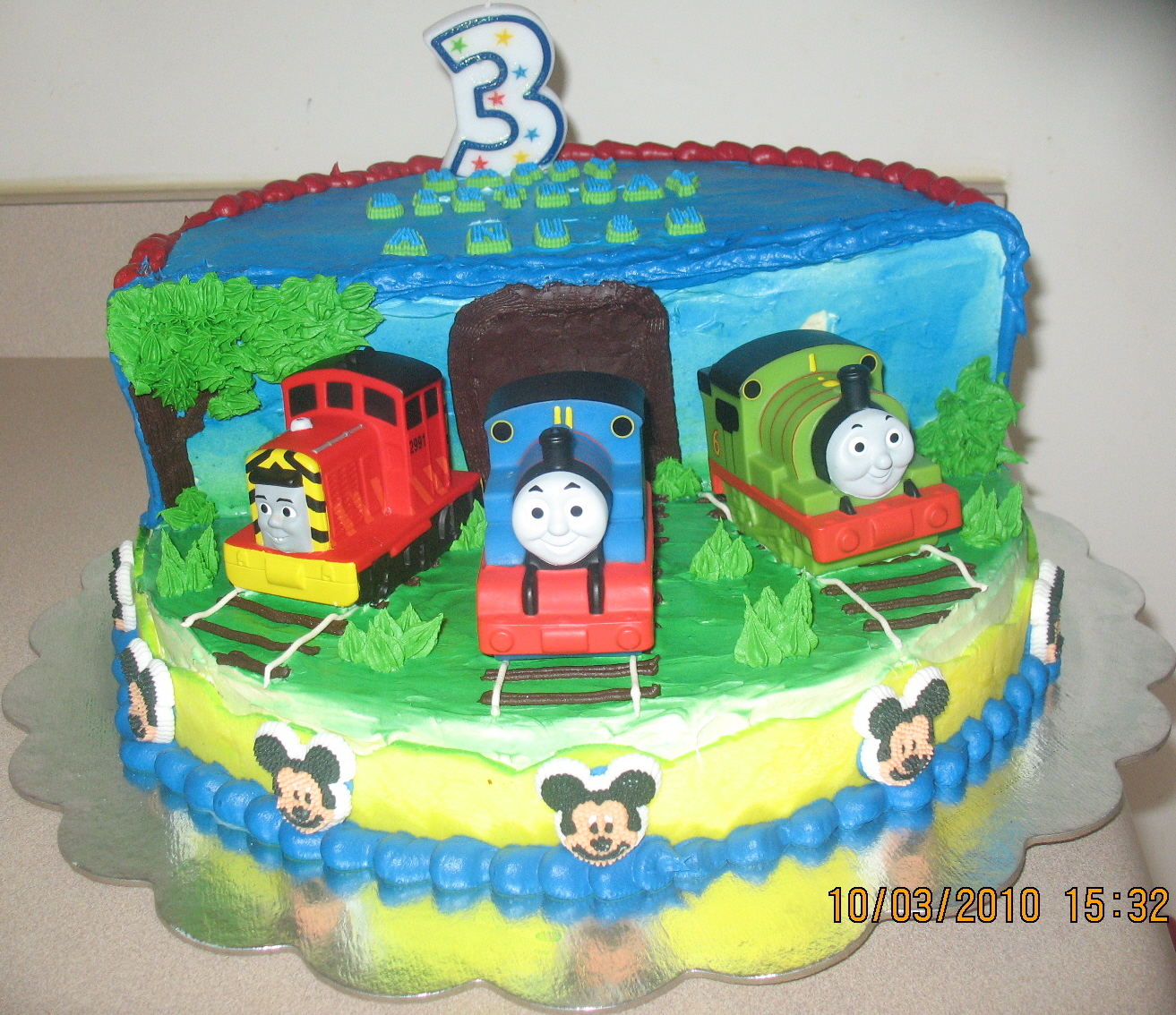 Thomas Train Stage Cake
